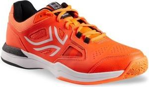 Pomarańczowe buty sportowe Artengo sznurowane