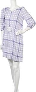 Fioletowa sukienka Comptoir Des Créations z długim rękawem mini w stylu casual