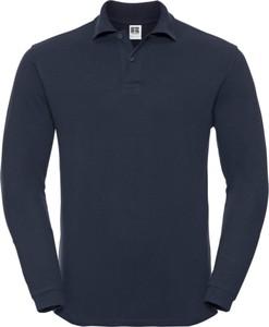 Niebieska koszulka z długim rękawem Russell z bawełny w stylu casual