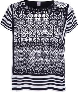 T-shirt Deha w stylu casual z okrągłym dekoltem z tkaniny
