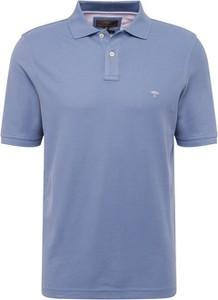 Niebieska koszulka polo Fynch Hatton z krótkim rękawem z bawełny