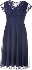 Granatowa sukienka Sklep XL-ka