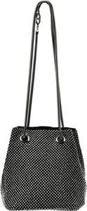 Czarna torebka Jessica średnia zdobiona