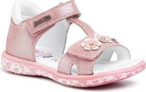 Różowe buty dziecięce letnie Lasocki Kids w kwiatki