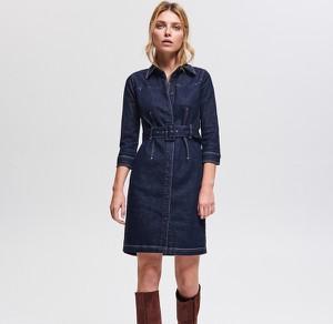 66d69bd89b Niebieskie Sukienki Z Jeansu Reserved Kolekcja Jesień 2018