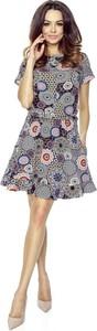 Sukienka Bergamo w stylu casual z okrągłym dekoltem