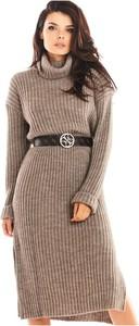 Sukienka Awama z golfem z wełny