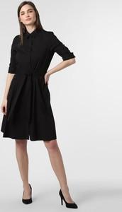 Czarna sukienka Steffen Schraut mini koszulowa z kołnierzykiem