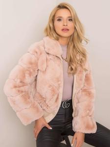 Różowa kurtka Sheandher.pl krótka w stylu casual