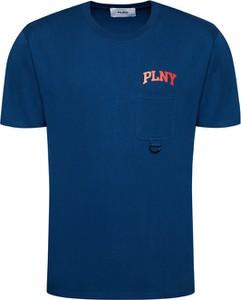 Niebieski t-shirt Plny Textylia