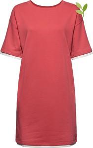 Czerwona sukienka Esprit z bawełny w stylu casual mini