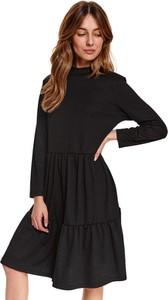 Sukienka Top Secret z tkaniny w stylu casual z długim rękawem