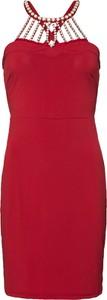 Czerwona sukienka bonprix BODYFLIRT boutique ołówkowa midi