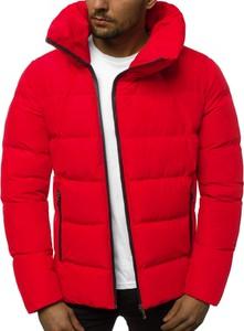 Czerwona kurtka producent niezdefiniowany w stylu casual