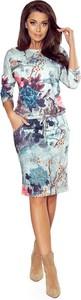Sukienka NUMOCO sportowa w stylu casual z okrągłym dekoltem