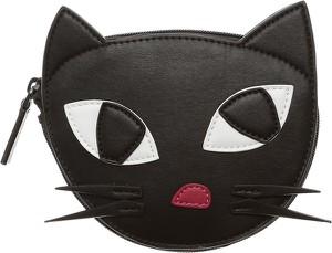 Czarny portfel Lulu Guinness
