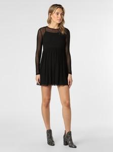 Czarna sukienka EDITED mini z długim rękawem
