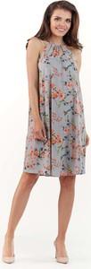 Sukienka Lou-Lou mini z dekoltem halter bez rękawów