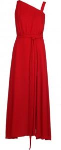 Czerwona sukienka VISSAVI maxi bez rękawów