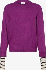 Fioletowy sweter Essentiel Antwerp w stylu casual z jedwabiu