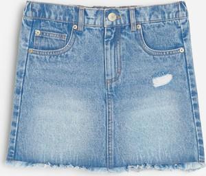 Niebieska spódniczka dziewczęca Reserved z jeansu