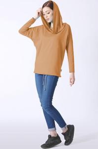 Bluzka Grupa Ventus w stylu casual z długim rękawem z bawełny
