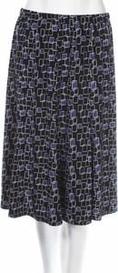 Granatowa spódnica Jm Collection z nadrukiem