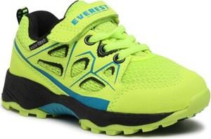 Zielone buty sportowe dziecięce Everest dla chłopców