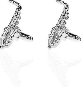 Em Men`s Accessories Spinki do mankietów tematyczne srebrne saksofony EM 59