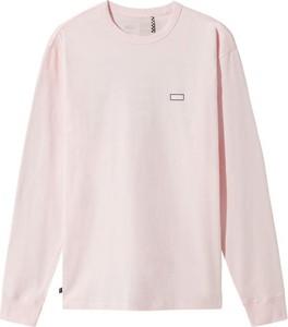Różowa koszulka z długim rękawem Vans z długim rękawem