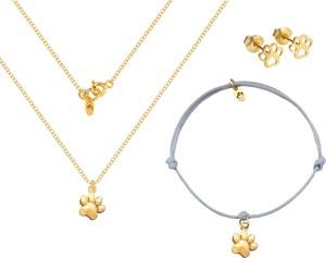 Perlove Złoty Komplet z Motywem Łapki 3