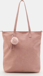 Różowa torebka Sinsay duża matowa