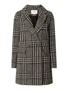 Czarny płaszcz Only w stylu casual krótki z wełny