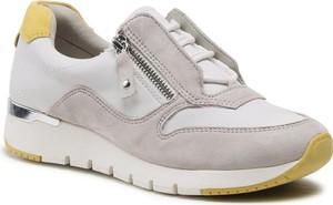 Buty sportowe Caprice ze skóry sznurowane
