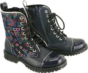 Granatowe buty dziecięce zimowe Zarro