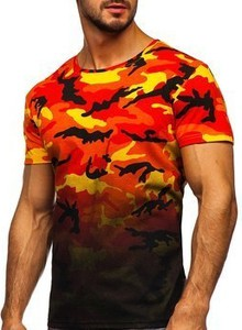 T-shirt Denley w militarnym stylu w bożonarodzeniowy wzór z bawełny