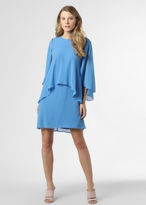 Niebieska sukienka Ralph Lauren z okrągłym dekoltem mini