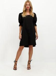 Sukienka Lavard mini z tkaniny z krótkim rękawem