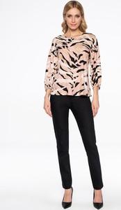 Bluzka Lavard z tkaniny z długim rękawem z okrągłym dekoltem
