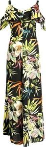 Sukienka Persona by Marina Rinaldi maxi z krótkim rękawem z dekoltem w kształcie litery v