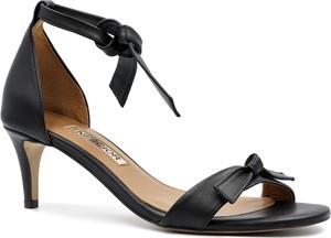 Czarne sandały Neścior sznurowane