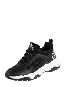 Czarne buty sportowe Guess z płaską podeszwą