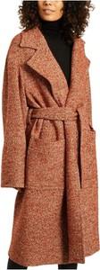Pomarańczowy płaszcz Laurence Bras z wełny