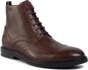 Brązowe buty zimowe Strellson sznurowane