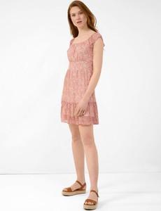 Sukienka ORSAY z okrągłym dekoltem z tkaniny z krótkim rękawem