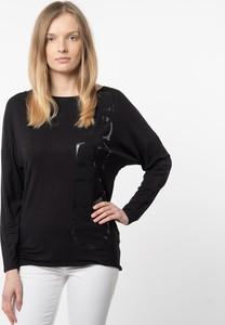 Bluzka Guess z okrągłym dekoltem w stylu casual z długim rękawem