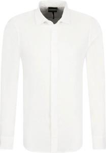 Koszula Emporio Armani z lnu