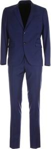 Niebieski garnitur Simbols z wełny