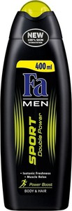Fa, Men Sport Double Power Power Boost, żel pod prysznic, 400 ml
