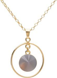 GIORRE Okrągły naszyjnik z naturalnym kamieniem - kwarc, srebro 925 : Długość (cm) - 45 + 5, Kamienie naturalne - kolor - kwarc dymiony, Srebro - kolor pokrycia - Pokrycie żółtym 18K złotem